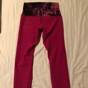 Lululemon high rise neon pink leggings